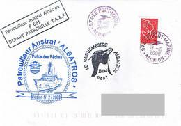 TAAF - Patrouilleur Austral ALBATROS - Mission N°2/2009. Police Des Pêches. - Scheepspost