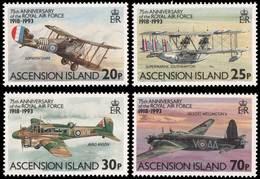Ascension 1993 75 Years Royal Air Force RAF 75 Ans - Avions