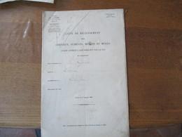 MINISTERE DE LA GUERRE LISTE DE RECENSEMENT DES CHEVAUX JUMENTS MULETS ET MULES EXISTANT A LA GROISE AU 1er JANVIER 1880 - Documents