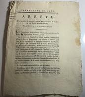 Document PREFECTURE  De L'AIN - Loi D'Amnistie Des Deserteurs AN 10 - 1802 - Documents Historiques