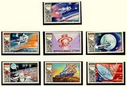 Mongolie - Mongolei - Mongolia 1986 Y&T N°1386 à 1392 - Michel N°1730 à 1736 *** - Recherche Spatiale Soviétique - Mongolie