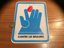 "Grand Autocollant, Sticker ""CONTRE LES BRULURES - Chadebec"" - Pegatinas"