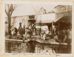 C1895 - Mexico - Canal De La Viga - Marchands De Légumes - Greengrocer - Verdulero - 2 Scans - Foto
