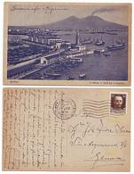 Napoli Il Porto Il Faro Ed Il Vesuvio - Viaggiata A Mano 1930 Anni '30 Renza Ed. - Napoli