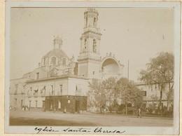 C1895 - Mexico - Eglise Santa Theresa - Santa Teresa Church - Shop American Shoes J.E. STARCK Y Cia - 2 Scans - Foto