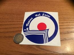 "AUTOCOLLANT, Sticker ""la Marine Moi J'aime"" Type 3 - Pegatinas"