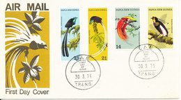 Papua New Guinea FDC 30-3-1973 BIRDS Complete Set Of 4 With Cachet - Papouasie-Nouvelle-Guinée