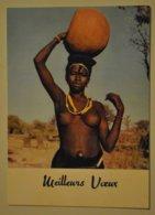 Femme Africaine Seins Nus Carte Mignonnette ( Dimensions 10,5 X 7,5 Cms ) - Afrique Du Sud, Est, Ouest