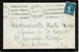 """1926 - Oblit KRAG """"VIENNE SUR LE RHONE 6 COLONIE ROMAINE 6 PRIMATE DES GAULES……….."""" - Tp N°192 - 1921-1960: Periodo Moderno"""
