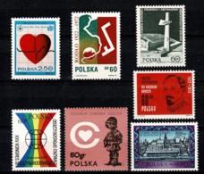 Polska 1972 Yv. 1994, 2003, 2005, 2017, 2018, 2039, 2040**,  Mi 2148, 2159, 2160, 2172, 2173, 2201, 2202** MNH - 1944-.... République