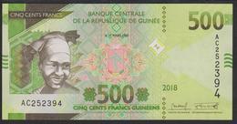 Guinea 500 Francs 2018 Pew UNC - Guinea
