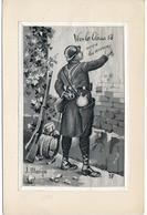 """Militaria. Guerre 14-18. Carte En Soie Tissée.  """"Vive La Classe 18, Nous Les Aurons"""". J. Monge - War 1914-18"""