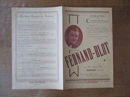 """ROUEN M. FERNAND-BLOT DIRECTEUR DES """"THEATRE ET CONCERTS ARTISTIQUES"""" 22 RUE JEANNE D'ARC ORGANISATION DE TOUS SPECTACLE - Advertising"""