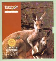 New Zealand - 1998 Gold Bullion - $75 Kangaroo - Mint In Telecom Collector Pack - NZ-IP-13 - Neuseeland