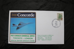 Canada Toronto To London First Commercial Service Concorde Special Cancel 1980  A04s - Concorde