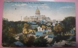 ETATS-UNIS - AUSTIN - PARTIAL VIEW OF CITY - LOOKING WEST - USURE D'USAGE AUTOUR DE LA CARTE - Austin