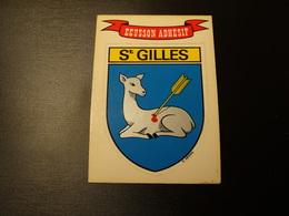 Blason écusson Adhésif Autocollant Saint Gilles (Gard) Aufkleber Wappen Coat Of Arms Sticker - Obj. 'Remember Of'