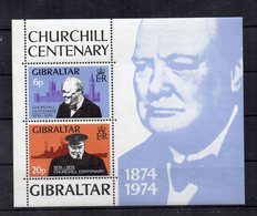 Gibilterra - 1974 - Blocco Foglietto Churchill - 2 Valori - Nuovo ** - (FDC20084) - Gibilterra