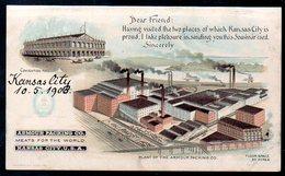 """Old Postcard,KANSAS CITY, """"Armour Packing Co."""", Unused - Kansas City – Kansas"""