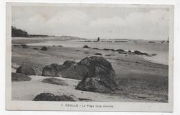 (RECTO / VERSO) REVILLE EN 1938 - N° 7 - LA PLAGE SOUS JONVILLE - TIMBRE DECOLLE - BEAU CACHET - CPA VOYAGEE - Francia