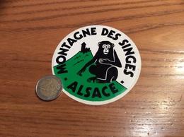 AUTOCOLLANT, Sticker *x «MONTAGNE DES SINGES ALSACE - KINTZHEIM (67)» (Parc Animalier) - Pegatinas