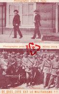 """Photographie (dessus) Prise à Paris """"Foch Et Weygand""""- (dessous) Prise à Munich """" Hindenburg Et Ludendorf Les 21-8-1922 - Evénements"""