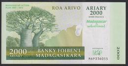 Madagascar 2000 Francs 2007 P93 UNC - Madagascar