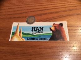 AUTOCOLLANT, Sticker ** «Grotte & Safari - HAN S/LESSE BELGIUM» (Parc, Ours, Belgique) - Pegatinas