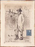 Gravure De 1928 Gabriel Barlangue - Lithographies