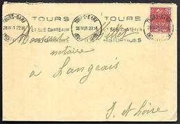 LF D48  Enveloppe De 1931 De Tours Timbre N°272 - Marcophilie (Lettres)