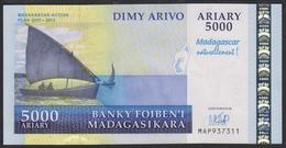Madagascar 5000 Francs 2008 P94 UNC - Madagascar