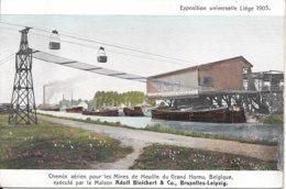 Exposition Universelle Liège 1905 - Chemin Aérien Pour Les Mines De Houille Du Grand Hornu, Belgique - Exhibitions