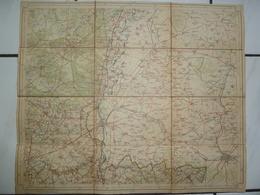 Carte Topographique Toilée  1/100000 1910 Tongeren Gemmenich Maastricht Visé Genk Bilsen Lanaken Asch Stokkem - Carte Topografiche