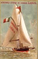 Série Complète De 6 Chromos Compagnie Liebig  Rare Série 109 Testu Massin  Port De Trouville (14)  Circa 1880 - Liebig