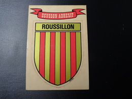 Blason écusson Adhésif Autocollant Roussillon Aufkleber Wappen Coat Of Arms Sticker - Obj. 'Remember Of'