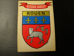 Blason écusson Adhésif Autocollant Rouen Aufkleber Wappen Coat Of Arms Sticker - Obj. 'Remember Of'