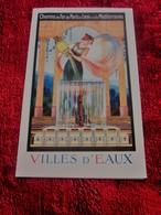 PLM VILLES D'EAUX-CHEMINS DE FER PARIS-LYON-MÉDITERRANÉE DÉPLIANT GUIDE TOURISTIQUE-CENTRE TOURISME SÉJOUR-THERMALISME - Europe