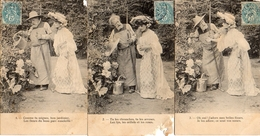Femme Photo 853, Jardinier Avec Arrosoir X 6 - Women