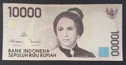 RS - Indonesia 10000 Rupiah Banknote 1998 #QHF283740 - Indonesia