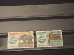 MALDIVES - 1992 FAUNA 2 VALORI - NUOVI(++) - Maldive (1965-...)