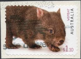 2020 AUSTRALIA WOMBAT $1.10 Very Fine Used Self-adhesive Stamp ON PAPER - 2010-... Elizabeth II