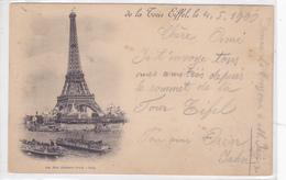 Cpa-75-paris -de La Tour Eiffel-photo Neurdein-voir Cachet Au Dos - Tour Eiffel