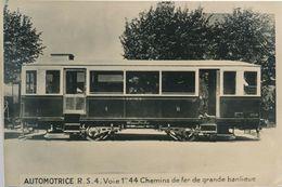 Snapshot Automotrice R.S.4 Berliet Train Chemins De Fer Sncf Ferroviaire Wagon - Treni