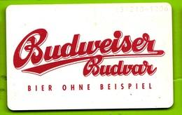 Germania, Germany- Budweiser Budvar, Bier Ohne Beispiel. Used Phone Card With Chip. 12DM Telekom. Exp.11.93 - Germany