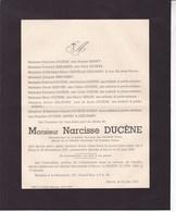 ROUX Administrateur SA Des Verreries DOYEN Narcisse DUCENE 1873-1943 Havré Mons Famille MANET DESCAMPS - Décès