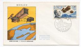 FDC Monaco 1970 - Henri Rougier - 1er Vol Sur La Méditerranée - YT  840 - FDC
