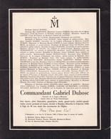 ROMBAS MOSELLE CHANES Commandant Gabriel DUBOSC 86 Ans 1949 Familles HANNOIRE De LATTRE DENEUFVILLE CARLIEZ - Décès