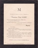 CLICHY SEINE COURBEVOIE Paul AUBY 55 Ans 1953 - Décès