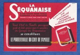 Buvard Ancien Illustré - Assurance LA SEQUANAISE - Charles CHEVALME Agent à Bettancourt La Ferrée , Cachet Au Verso - Banque & Assurance