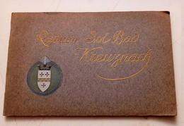 BAD KREUZNACH ALBUM DE 88 PAGES + CARTE GEOGRAPHIQUE GEMÜNDEN ILLUSTRATEUR KUNSTLER TARIF PANORAMA ROSENINSEL 1911 - Bad Kreuznach